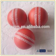 PU foam anti stress ball cricket shaped toy