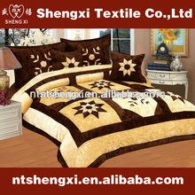 Nantong shengxi brand bedding sets patchwork quilt home bedding set luxury 3d embroidery king size comforter sets bedding