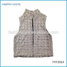 Knitted fashionable women rabbit fur coat