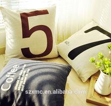Alphabet Letter print Cushion Cover,custom arabic numbers cushion