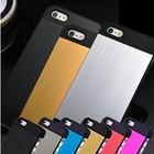 Brushed Aluminium Bumper Back Metal Case Cover For iPhone 5 5S 4 4S For Metal--Laudtec