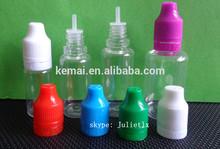 ISO8317 PET/PE bottle for E- liquid cigarette smoke oil flavor essence