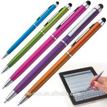 5 color Plastic ball pen function touch pen