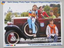 "Factory price !!! Double side Semi glossy Inkjet photo paper sheet &roll(2"",3"" core) 160gsm for Noritsu machine!!"
