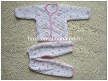 Warm Winter 100% cotton fashion baby clothes underwear suits set