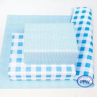 Blue Grid Pattern Printed Printed Wrapping Paper/ Paper Roll Wrapping Machine / Machine Gift Wrapping Paper Wholesale