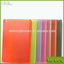 Custom design 0.4mm matte pc case for ipad mini, skin pc case cover for ipad mini