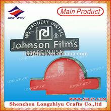 Brushed personalized badge nameplate,custom etching embossed aluminum nameplates label emblem maker