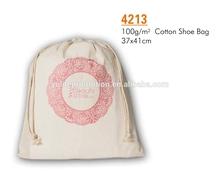 wholesale drawstring cotton shoe bag for promotion