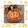 Großhandel 2014 neues produkt billig Jahrgang 3d münze halskette nepal Münze mit hand gestempelt bead metall-münze