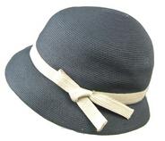 Elegant Short Brim Straw Hat/Fedora with Bowknot