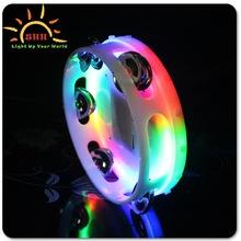 Flashing Maracas Tambourines Wholesale Plastic LED Light Tambourines For Children For Sale