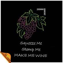Purple grapes tshirt rhinestone transfer custom design