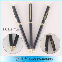 Soft hand feeling black color twist action metal pen