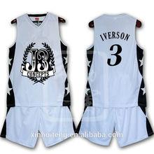 v neck fashion 100% polyester men wholesale custom print basketball jerseys