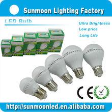 3w 5w 7w 9w 12w e27 b22 ce rohs 2014 550 lumen led bulb