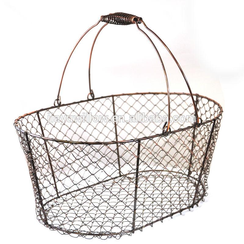 Wire Mesh Basket Wire Egg Basket Wholesale Industrial Wire Baskets
