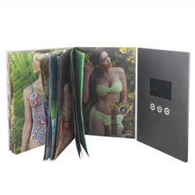 5 inch avi sex video brochure with tft screen video brochure book for promotion
