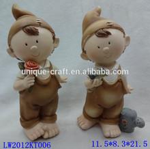 Decorative lovely boy resin mini figurines