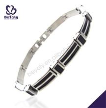 Plain black enamel design wholesale bangle stainless steel bijoux