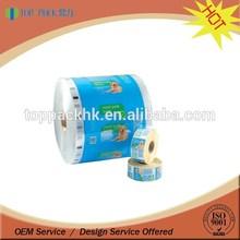 custom printing food grade material roll film plastic packaging roll film for sachet shampoo