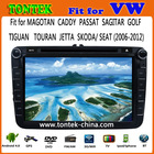 """vw SAGITAR 2din car video with 8"""" Capacitive touch Screen With Android4.1 IPOD BT ATV 1GB DDR3 Radio AUX IN CAN BU TA8051"""