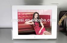 "advertising display + video download 12"" digital picture movie frame Calendar Remote Control"
