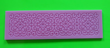 Change Hot Lovely Pink Lace Silicone Mold Cake Decoration Tool for Fondant Cake Cupcake