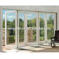Aluminium lowes. intérieure en verre coulissantes pliantes portes patio