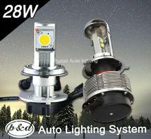 new design built-in fan car H4 led motorcycle headlight