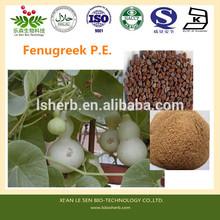 High Quality Fenugreek P.E. Powder 5:1 10:1 , 4-Hydroxyisoleucine 98% ( 4-OH-Ile ) , Furostanol Saponins