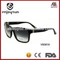 cool man occhiali da sole in acetato nero con tempio ampio made in china