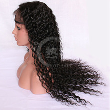 2014 new product virgin mongolian human kinky curly lace topper wig