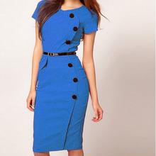 N1133 ebay hot sale brand lades dress lastest design long office wear women maxi dress