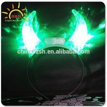 cool light up green devil horns for girls