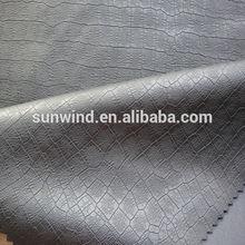 PU leather with crocodile skin for garment