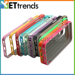 Latest color pc tpu bumper phone case for iphone 5s