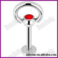 Wholesale Stianless Steel Jewelry Labret/ Lip body piercing jewelry