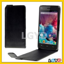New Version Black Vertical Flip Leather Case for Wiko Darkmoon