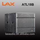 "single 18"" subwoofer for line array speaker LAX ATL18B"