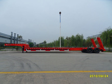 2 axle extendable low bed semi trailer