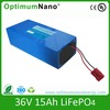 rechargeable li ion battery 36v 15ah for electric bike with charger