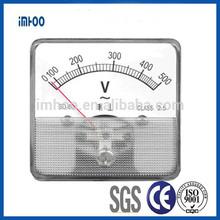 Analog panel meters manufacturers AC 60*60 0-500V single phase digital energy meter