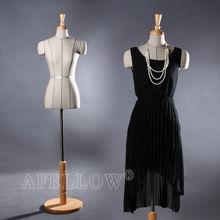 M003-F-4 Torso dummy Female fabric cover beautiful high quality dress foam mannequin Cloth display model Adjustable dress form