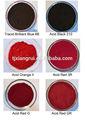 حمض الأصباغ مصنعين في الصين من حمض الأصباغ الحمراء مع msds للمنسوجات
