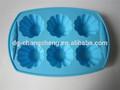 6 l'cups ronde moule à cake en silicone moule à gâteau muffin cuisson de pâtisserie