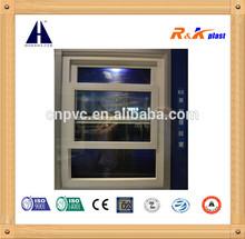Single hung vinyl window,American style PVC hung window own brand Upvc profile
