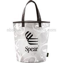 Laminated Basket Swirl Tote bag 21038,clear tote bags