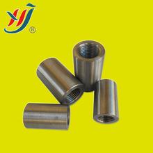 Metal building material : rebar sleeve coupler