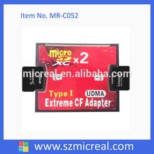 Big Sales ! 2 Slots SD Card to CF Card Adapter